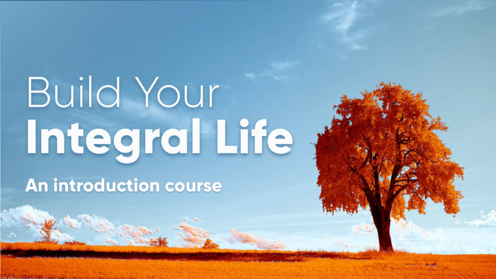 Want to make sense of everything? Start your Integral Life…